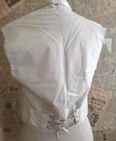 Antique Victorian Ivory Colour Silk Waistcoat (10 of 12)