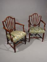 Exceptional Pair of George III Period Hepplewhite Elbow Chairs (3 of 7)