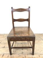 Set of Four 19th Century Oak Farmhouse Chairs (M-189) (13 of 17)