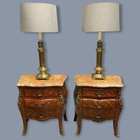 Pair of Italian Parquetry Bedside Commodes (2 of 8)