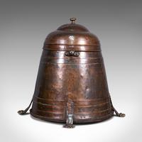 Antique Beehive Fireside Store, Copper, Fire Bucket, Coal Bin, Victorian c.1850 (6 of 12)