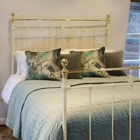 Cream Brass and Iron Antique Bed (2 of 6)