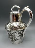 Antique Scottish Silver Plated Claret/Mulled Wine Jug - Patented Filter Lid (3 of 8)