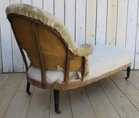 Antique French Chaise Longue Day Bed for re-upholstery (3 of 9)