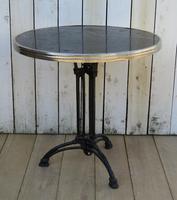 Art Deco Marble & Cast Iron Garden Bistro Table (7 of 7)