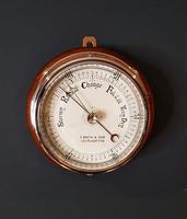 Superb Antique Bulkhead Marine Barometer (2 of 6)