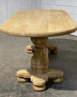 French Bleached Oak Monastery Dining Table (12 of 30)