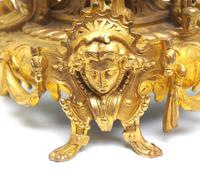 Wow! Incredible French Gilt Metal Mantel Clock Striking 8-Day Mantle Clock (7 of 10)