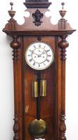 Fine Antique German Twin Walnut 8-Day Mantel Clock Vienna Striking Wall Clock (8 of 35)