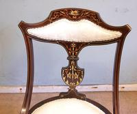 Antique Inlaid Mahogany Occasional Chair (5 of 7)