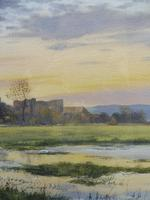 Watercolour Amberley Sunset Listed artist Andrew Dandridge (Free shipping to Mainland England) (7 of 10)
