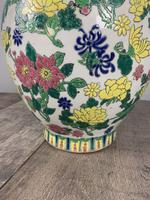 English Floral Vase Table Lamp, Rewired & Pat Tested c.1900 (3 of 9)