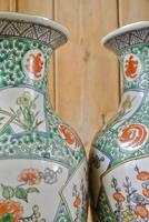 Pair of Chinese Famille Verte Vases (5 of 5)