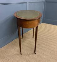 Edwardian Oval Inlaid Mahogany Writing Table (10 of 13)