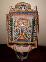Baroque Italian Majolica Holy Water Stoup c.1740 (2 of 10)