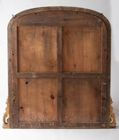 Very Large English Victorian Gilt Archtop Overmantle Mirror (8 of 8)