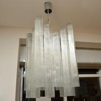Pair of Large Vintage 1960's Glass Chandeliers by Doria Leuchten (8 of 11)