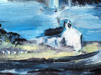 20th Century Oil Painting Wales Menai Bridge Church Straits Snowdonia Mountains (5 of 27)