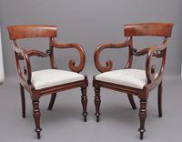 Pair of Mid 19th Century Mahogany Armchairs