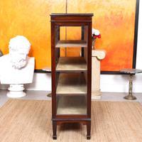 Glazed Bookcase Display Cabinet Edwardian Mahogany (6 of 9)