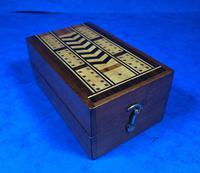 Victorian Inlaid Mahogany Crib  Box (15 of 20)