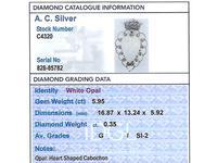 5.95ct Opal & 0.35ct Diamond, Platinum Brooch - Antique Victorian (3 of 9)