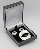 Norwegian silver and enamel brooch and earrings Andresen & Scheinpflug (2 of 3)