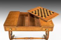 Regency Period Maple & Burr Maple Games Table (5 of 5)