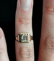Antique 9ct Rose Gold Signet Ring, Initial M, Silver (10 of 10)