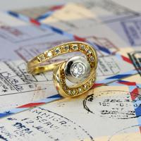 The Vintage Spiral Infinity Diamond Ring (2 of 5)
