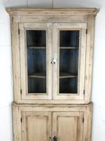 Victorian Stripped Pine Corner Cupboard with Glazed Top (10 of 11)