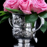 Georgian Solid Silver Loving Cup / Two Handled Cup - London 1748 (4 of 28)