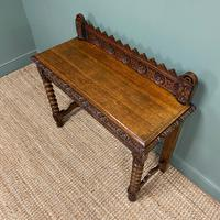 Stunning Carved Oak Victorian Antique Hall Table (7 of 8)