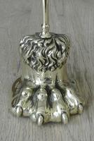 19th Century Brass Lion Paw Door Porter Door Stop (2 of 6)
