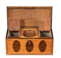 George III Period Satinwood & Burr Yew Tea Caddy (6 of 6)