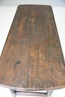 Rustic Oak Drop Leaf Dining Table (10 of 12)