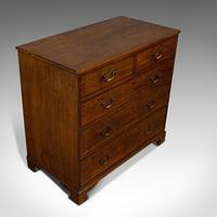 Antique Chest of Drawers, English, Oak, Tallboy, Early Victorian c.1840 (9 of 12)