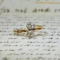 The Vintage Paired Flowers Fourteen Diamond Ring (2 of 6)
