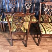 Set of Ten Georgian Style Mahogany Dining Chairs (4 of 13)
