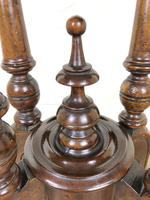 Victorian Walnut Oval Tilt Top Occasional Table (M-1713) (7 of 11)