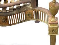 Brass George III Style Fire Basket c.1900 (5 of 5)