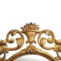 Antique Carved Oval Gilt Mirror (6 of 7)