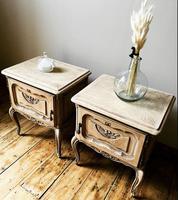 French Limed Oak Bedside Tables / Bedside Cabinets / Nightstands (2 of 4)