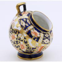 Novelty Imari Royal Crown Derby Porcelain Coal Scuttle c.1920