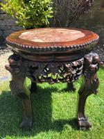 Chinese Hongmu Jardinière or Side Table with Marble Inset, Antique (12 of 16)