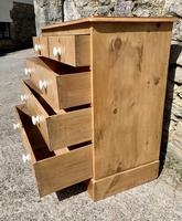 Antique Victorian Stripped Pine Chest of Drawers (13 of 15)