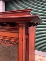 Antique Arts & Crafts Carved Walnut Bookcase (5 of 13)