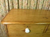 Antique Stripped Pine Chest of Drawers (8 of 9)