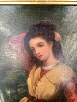 Antique Re-Raphaelite oil painting portrait of aristocratic young girl (1 of 2) (6 of 10)