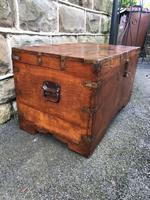 Antique Anglo Indian Brass Bound Trunk (5 of 11)
